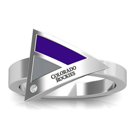 Geometric Purple Ring (Colorado Rockies Bixler's Women's Engraved Diamond Geometric Ring - Purple)