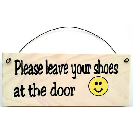 Please Leave Your Shoes At the Door ~ Smiley Face (Cute Please Face)