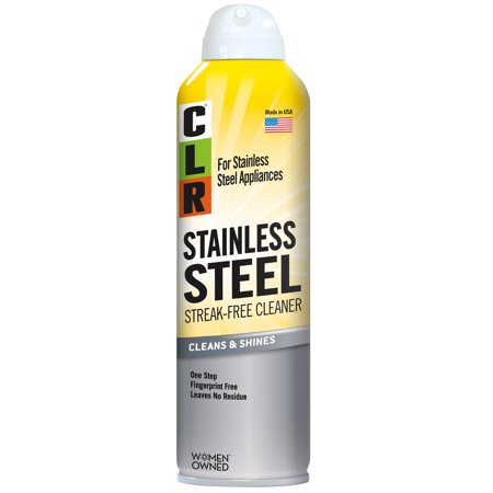 CLR Stainless Steel Cleaner, Non-Abrasive & Streak-Free Aerosol Cleaner, Cleans & Shines, 12 Oz (Best Way To Shine Stainless Steel)