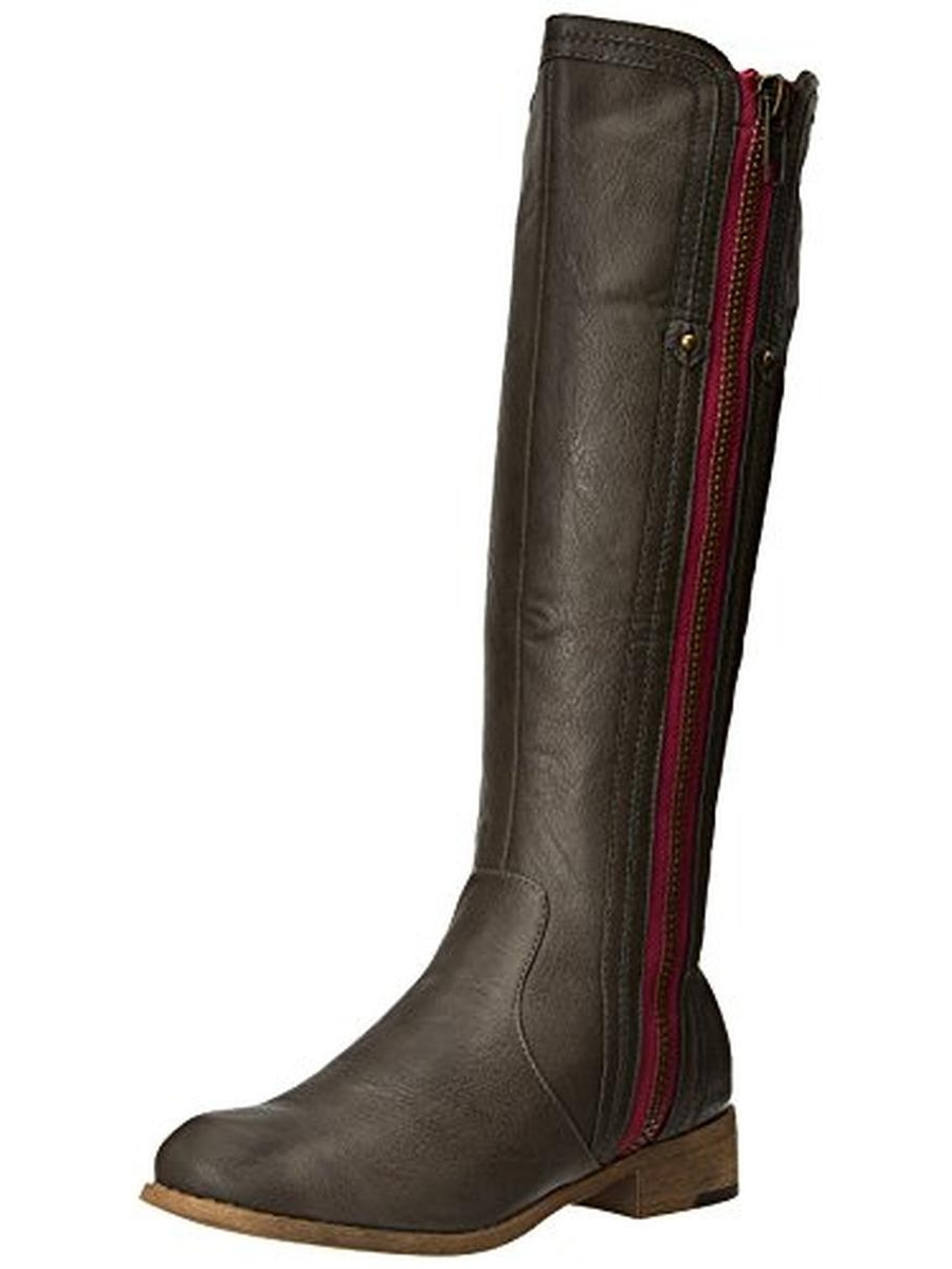 Luichiny Womens Express Lane Faux Leather Side Zip Riding Boots by Luichiny