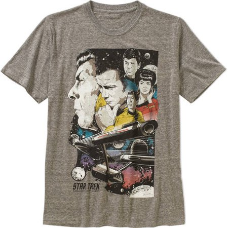 Star trek 50th Men's graphic tee Star Trek Pewter