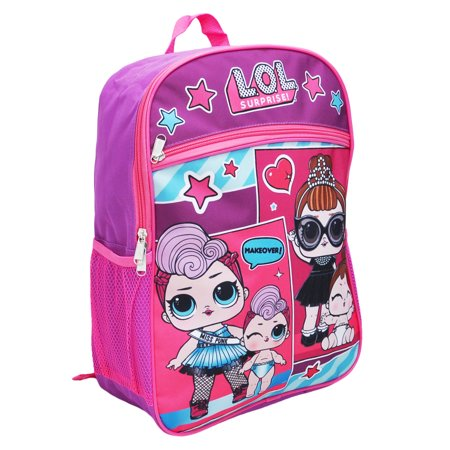 "Girls LOL Surprise Makeover Backpack 16"" Purple - image 2 of 2"