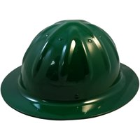 SkullBucket Aluminum Full Brim Hard Hats with Ratchet Suspensions - Black