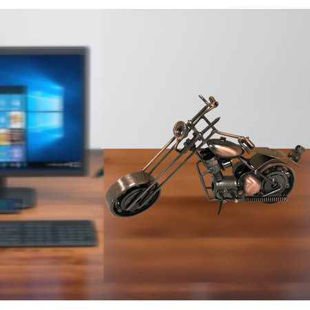 Metal Motorcycle Model, miniature motorcycle made of all metal pieces. With moving wheels and the unit can stand on its own. All -