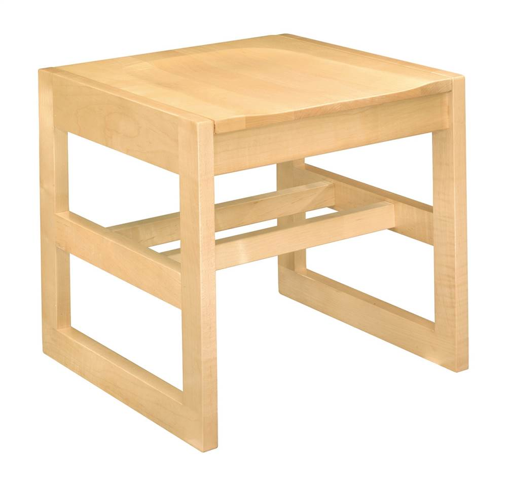 Class Act 19 in. Square Bench (Natural Oak)