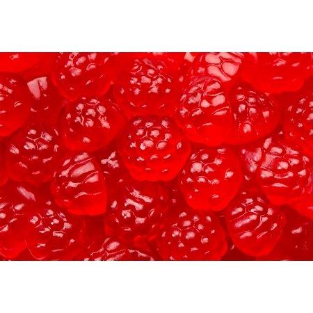 SweetGourmet Red Raspberries Gummi | Berry Red Raspberry | Bulk Candy Gummy | 15oz bag