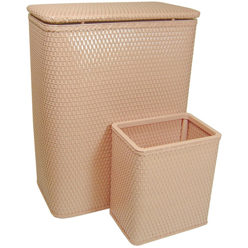 Chelsea Collection Hamper with Matching Square Wastebasket