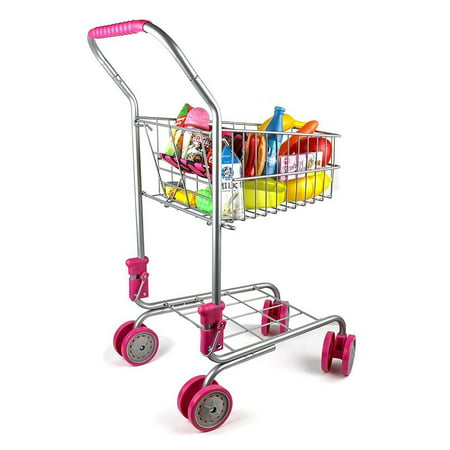 Precious Toys Kids & Toddler Pretend Play Shopping Cart with Groceries](Shopping For Toys)