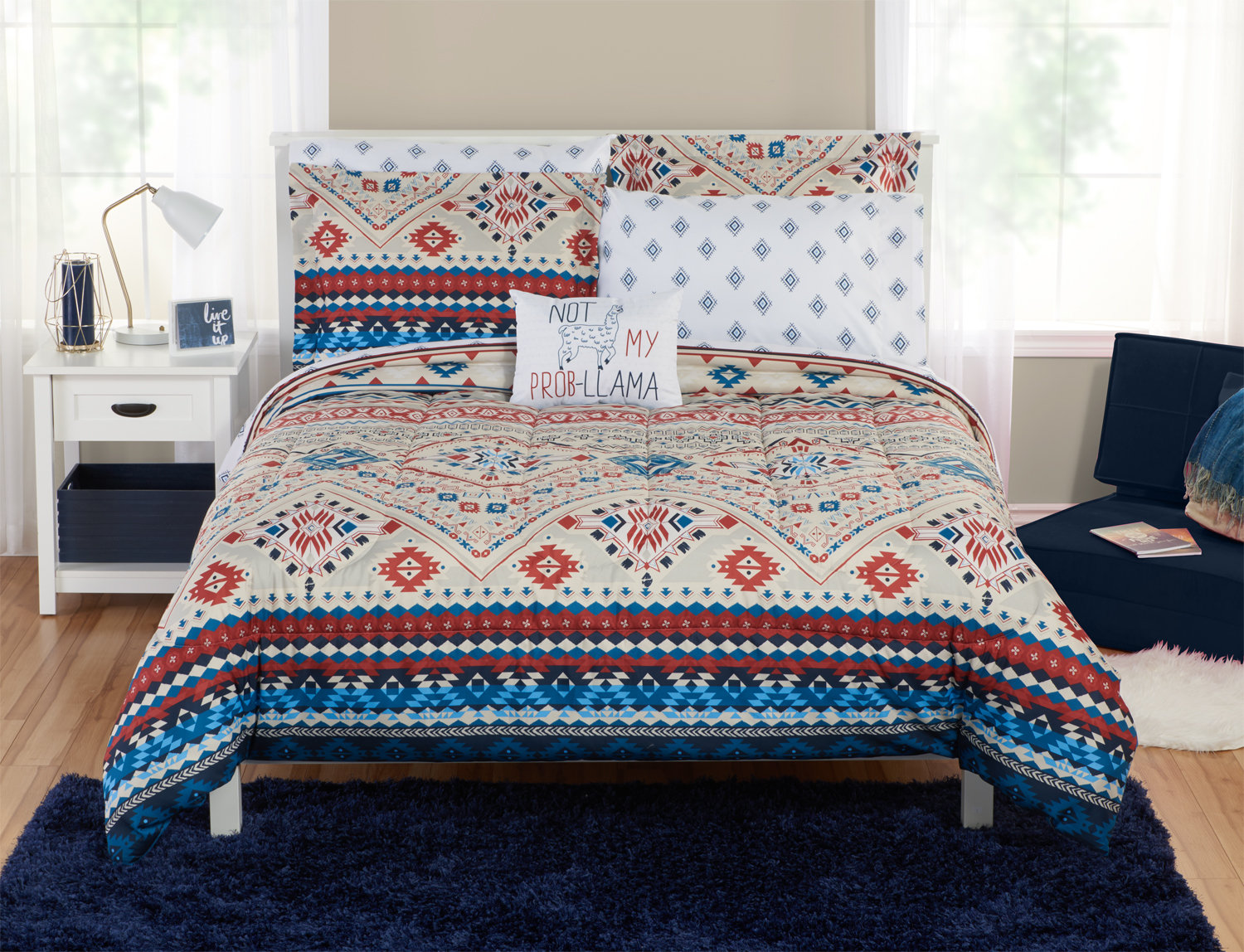 Mainstays Ecclectic Southwest Bed In A Bagtwin Twin Xl