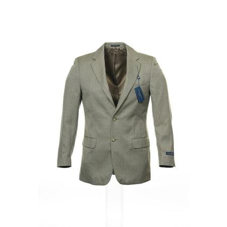 (Club Room Beige Window Pane 2 Button Sport Coat Sports Jacket , Size 38 Regular)