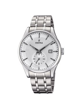 Festina F20276-1 Mens Retro Silver Dial Stainless Steel 41mm Watch