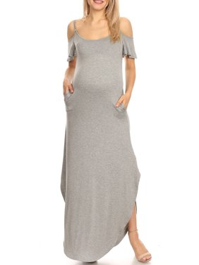 White Mark Women's Maternity Alexis Maxi Dress-Available in Plus Sizes