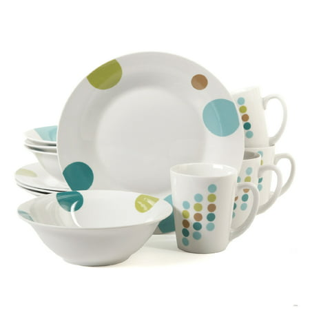 Gibson Home Retro Specks 12 Pc. Dinnerware Set