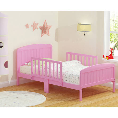 Russell Children Harrisburg XL Guardrail Wooden Toddler Bed, (Choose Your Finish)