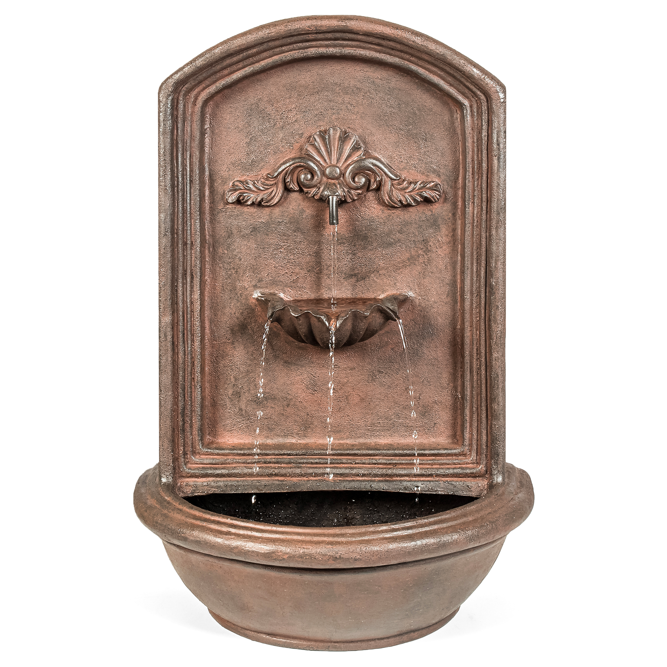 best choice products mounted wall water fountain bronze