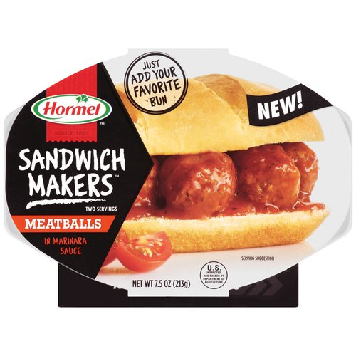 Hormel Sandwich Makers Meatballs in Marinara Sauce, 7.5 oz