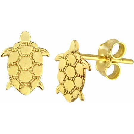 Us Gold 10kt Turtle Stud Earrings