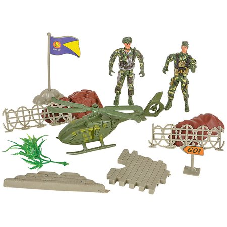 Miniature Toy Military Swat Soldier Play Set Mix Costume Accessory