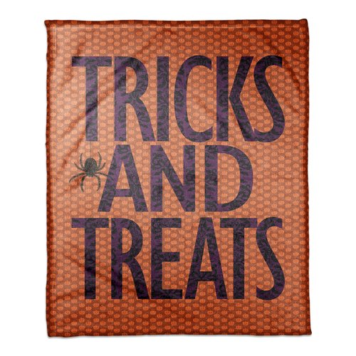 The Holiday Aisle Tricks and Treats Fleece Throw