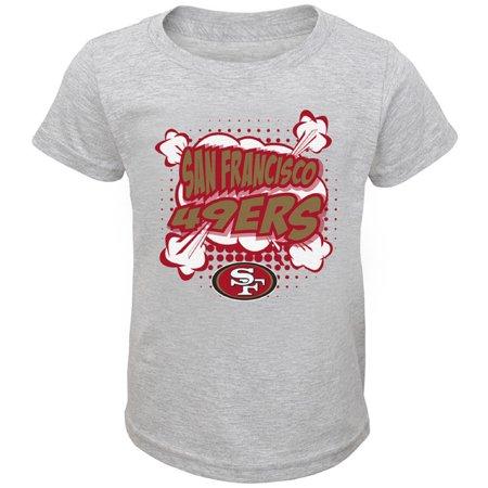 - Toddler Heathered Gray San Francisco 49ers Crew Neck T-Shirt