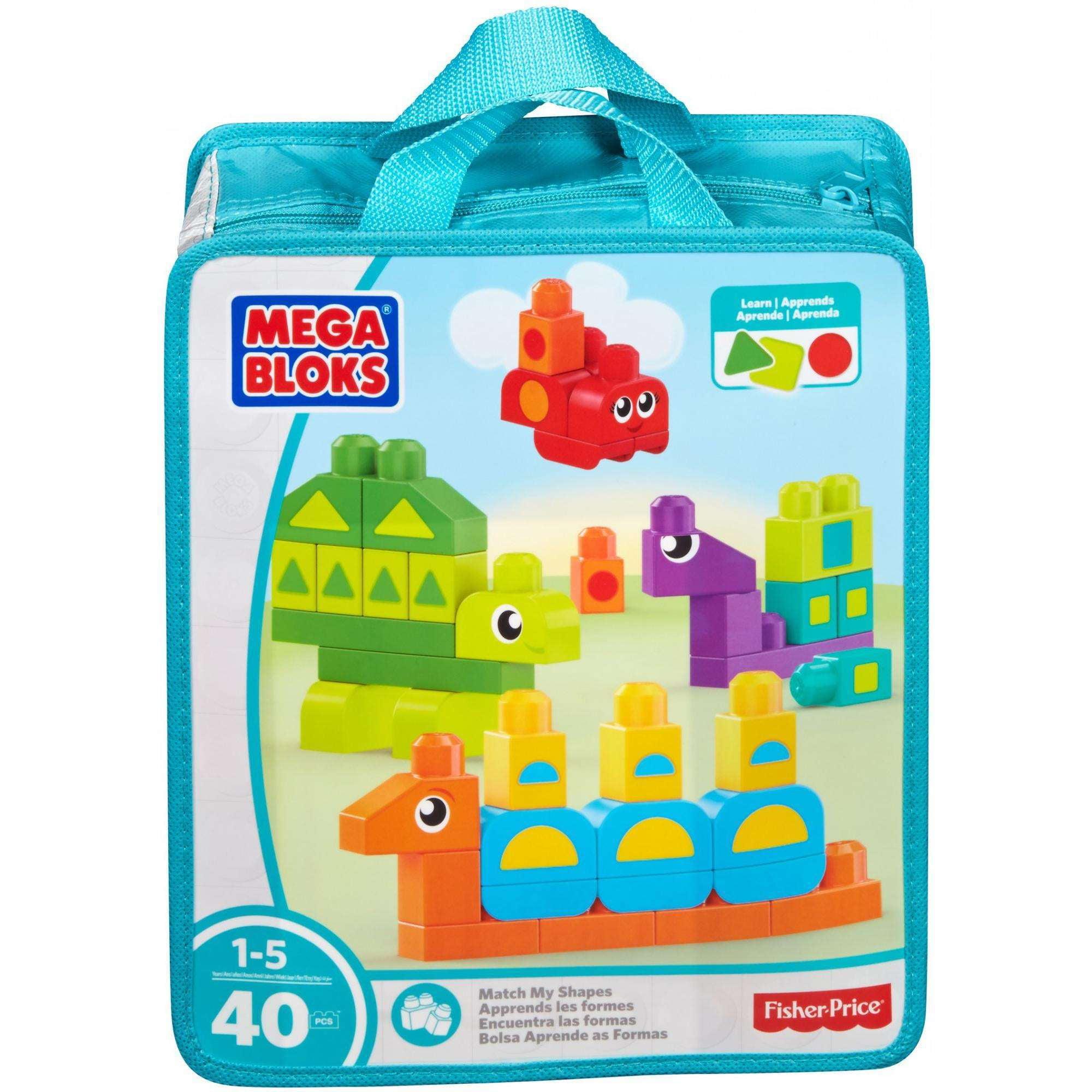 Mega Bloks Learn My Shapes Building Set