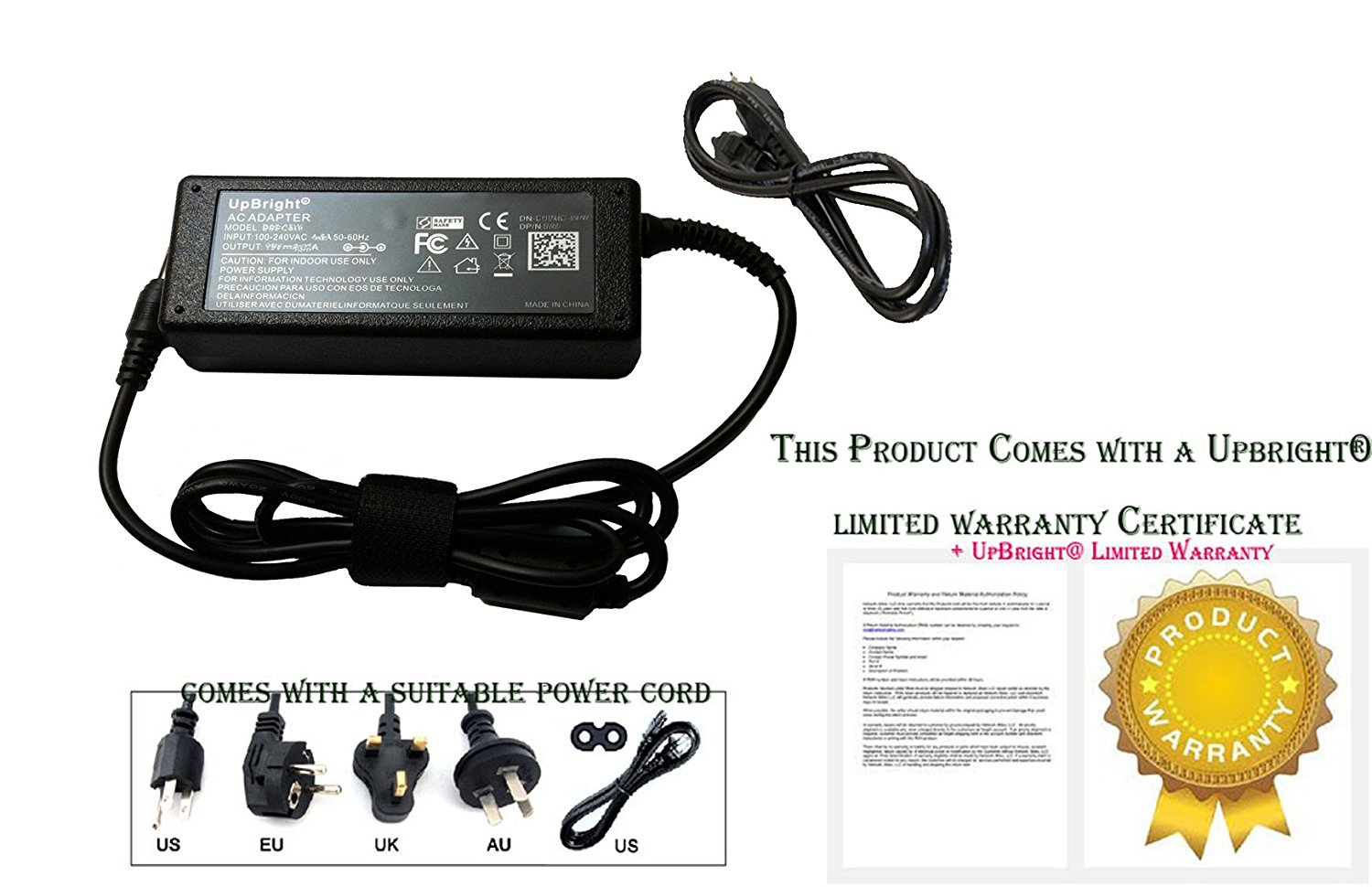 PK Power AC//DC Adapter for MicroBoard V490UHD V490 UHD HDX 49 16:9 LG AH-IPS Panel 4K LED Monitor Power Supply Cord Cable PS Charger Mains PSU