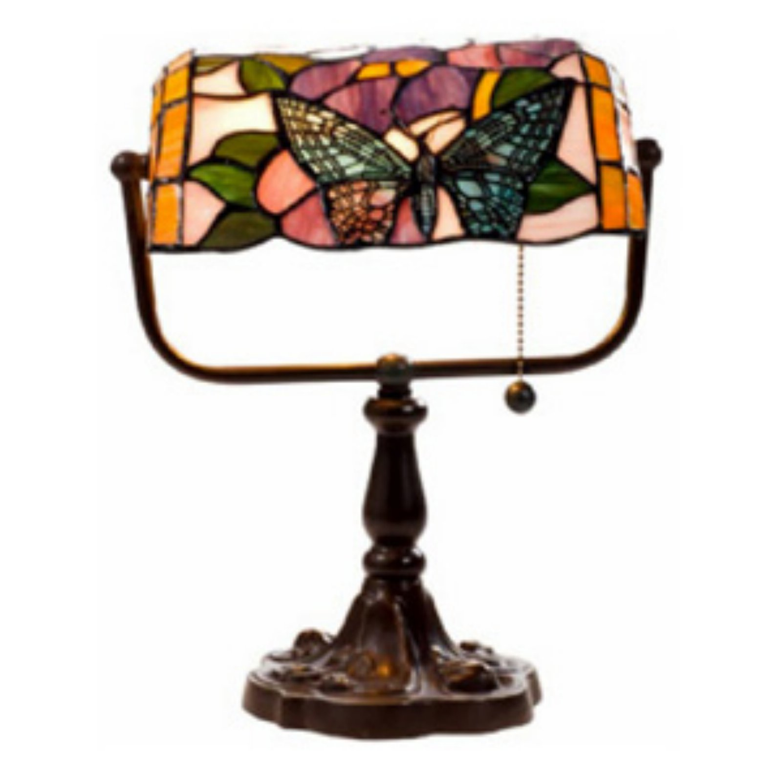Warehouse of Tiffany Butterfly Bankers Desk Lamp