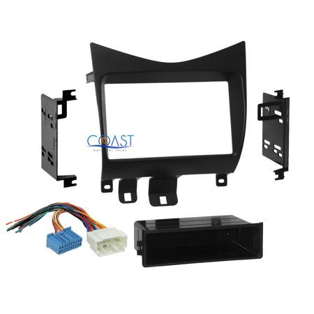 Car Radio Stereo Single Double Din Dash Kit Wire Harness 2003-2007 Honda
