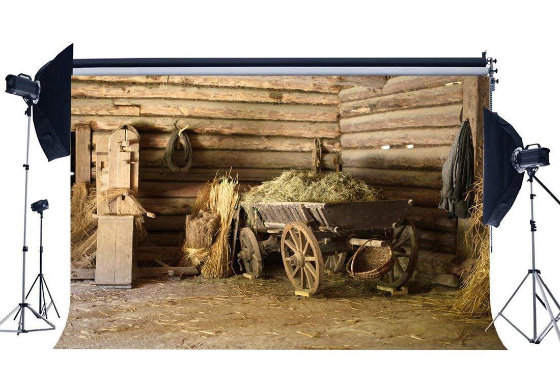 Farm Theme Backdrop 7x5ft Polyester Photography Background Cowboy Hat Wood Plank Scene Backdrop Nostalgia Farm Country Village Rustic Rural Theme Background Cowboy Farmer Portrait Backdrop Props