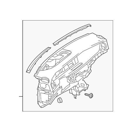 Genuine OE Mercedes-Benz Instrument Panel 217-680-93-01