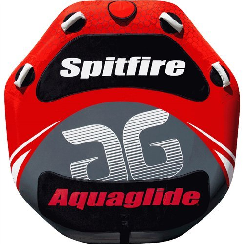 Aquaglide Spitfire 60 2 Person Towable Tube Package with 12V Inflator by Aquaglide
