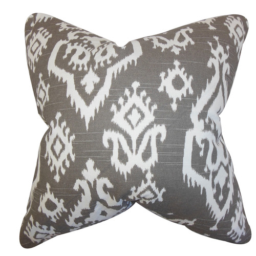 The Pillow Collection Baraka Ikat Throw Pillow