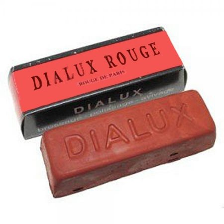 One Bar of Red Dialux Rouge Jewelers Polishing Compound Rouge - Paste
