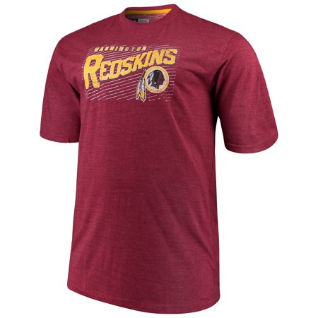 Men's Majestic Burgundy Washington Redskins Big & Tall Royal Domination Malt T-Shirt