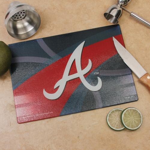 Atlanta Braves 8'' x 11.75'' Carbon Fiber Cutting Board - No Size