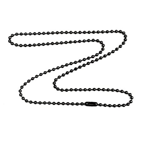 Gunmetal Steel 1.8mm Fine Ball Chain Necklace with Extra Durable Color Protect Finish - 18 inches
