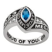 Personalized Women's Celebrium Marquise Birthstone and CZ Class Ring (Order by Nov 30th for Holiday Delivery)