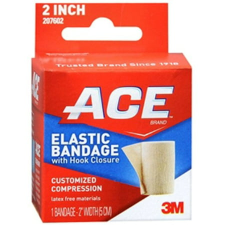 - ACE Elastic Bandage (velcro closure) 2 Inches 1 Each (Pack of 2)