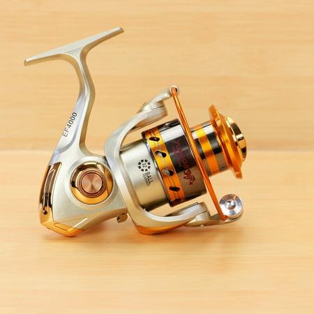 Soild Metal 12BB Spinning Wheel High Speed Left/Right Interchangeable Rocker Fishing Reels Gear Size:EF2000