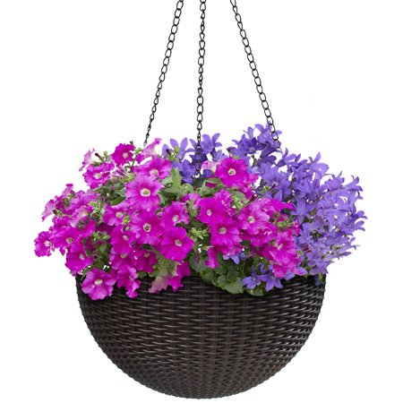 Round Self-Watering Hanging Planters - 10