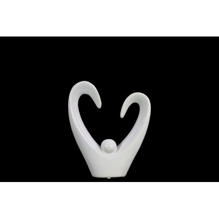 Urban Trends Collection: Ceramic Abstract Sculpture Gloss Finish White