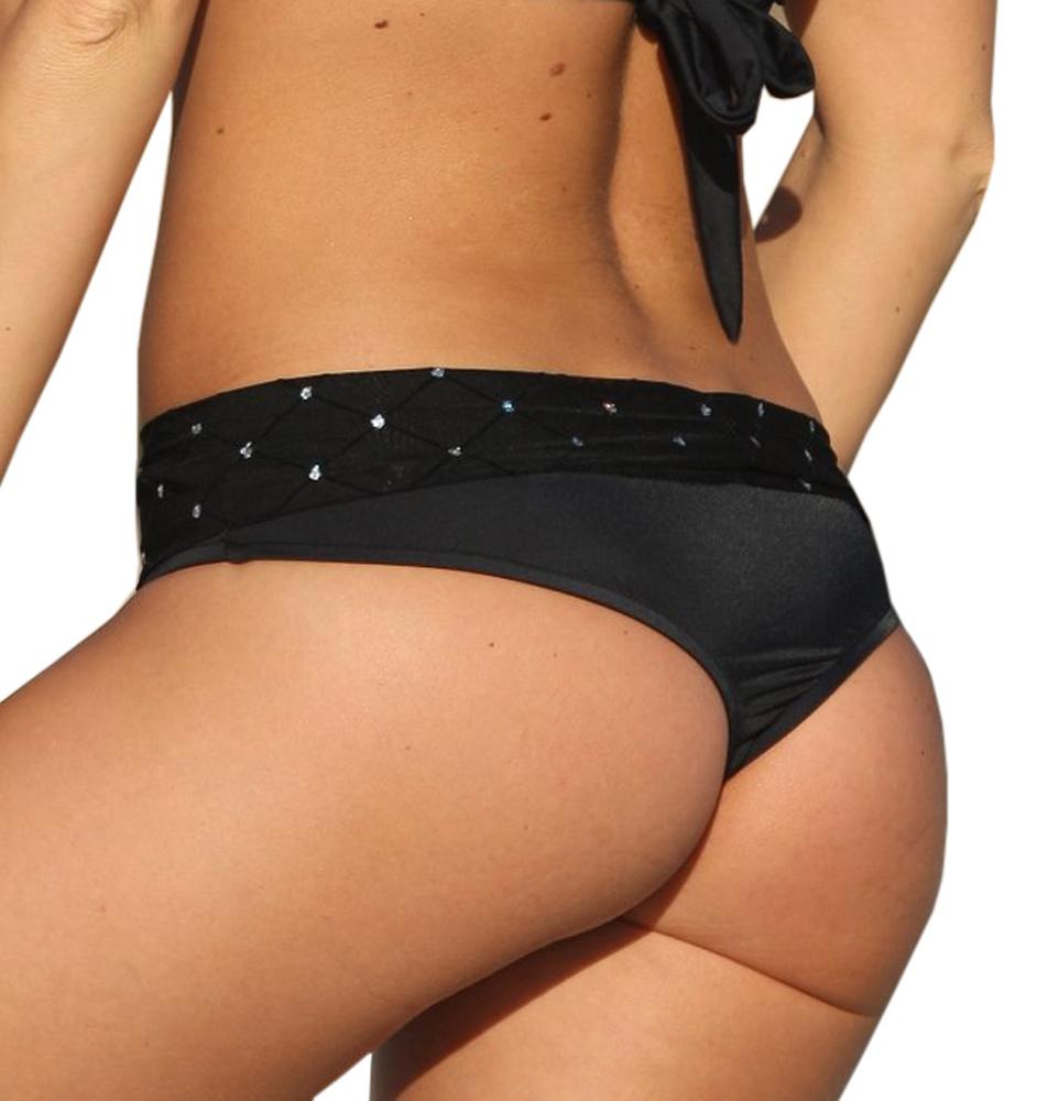 Sheer Diamond Underwire Top /& Banded Thong Bikini Bottom Swimwear Swimsuit Separates or Set