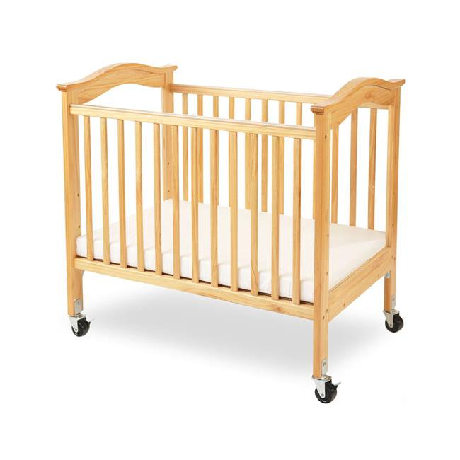 L.A. Baby Berkshire Mini Portable Crib with Mattress Brown by L.A. Baby