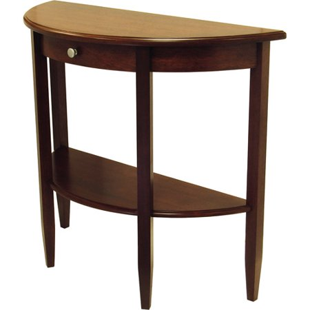 Concord hall console table half moon with drawer shelf for 1 2 moon table