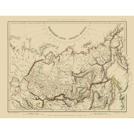 International Map - Asiatic Russia - Northern Asia - Sharpe 1848 ...