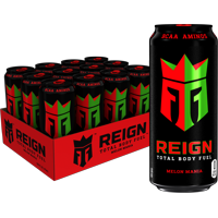 (12 Cans) Reign Total Body Fuel Energy Drink, Melon Mania, 16 Fl Oz