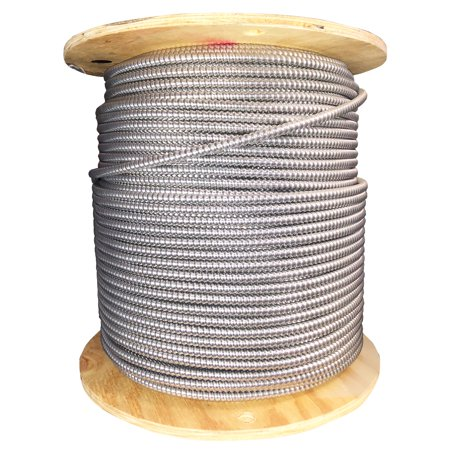 Northern Cable 800299 Armored MC Solid Copper Wire, 10/3 + Ground, 10AWG, 3C, 1000-Feet