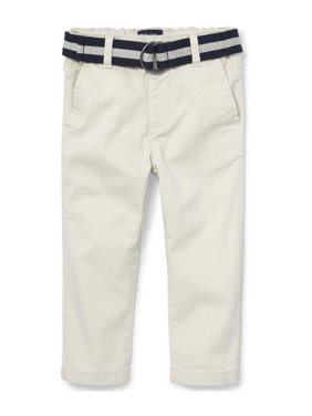 The Children's Place Toddler Boy Solid Belted Chino Pant