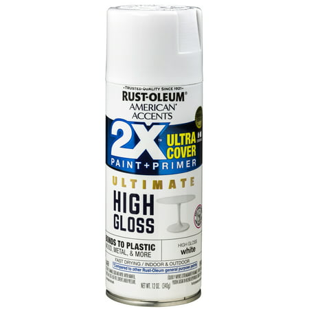 Gloss Clear Spray Paint - (3 Pack) Rust-Oleum American Accents Ultra Cover 2X Ultimate High Gloss White Spray Paint and Primer in 1, 12 oz