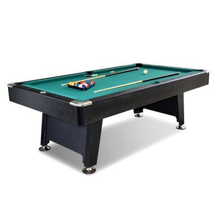 Unc Pool Table Light - Lancaster 90 Inch Arcade Game Room Billiard Pool Table with Balls and Cue, Green